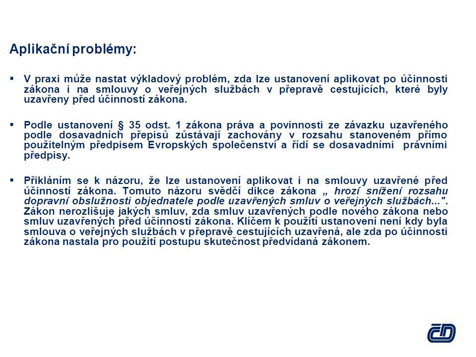 Aplikační problémy: