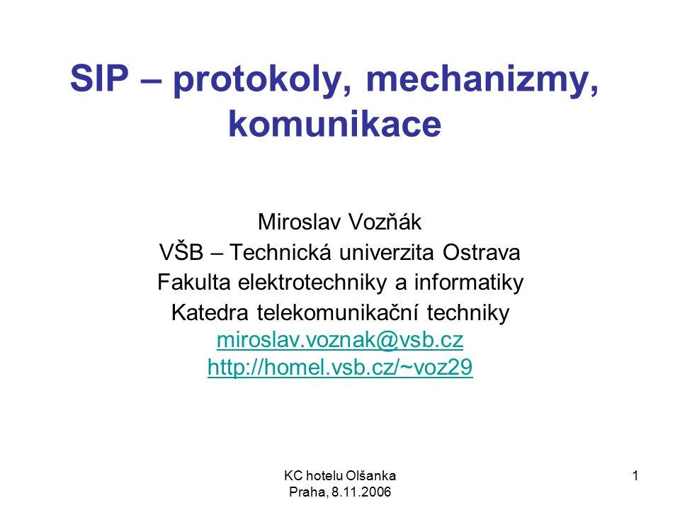 SIP – protokoly, mechanizmy, komunikace