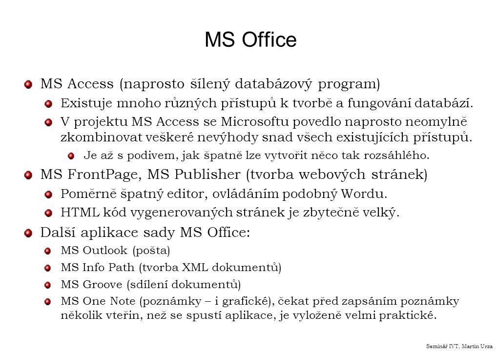 MS Office MS Access (naprosto šílený databázový program)