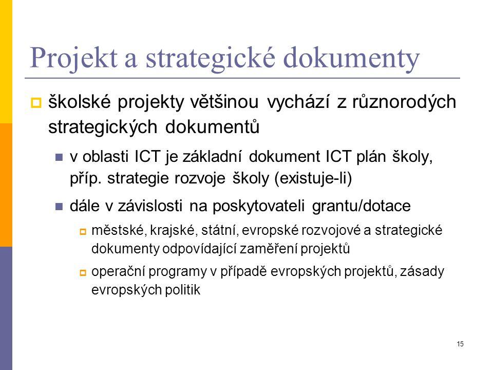 Projekt a strategické dokumenty