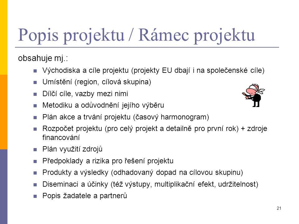 Popis projektu / Rámec projektu