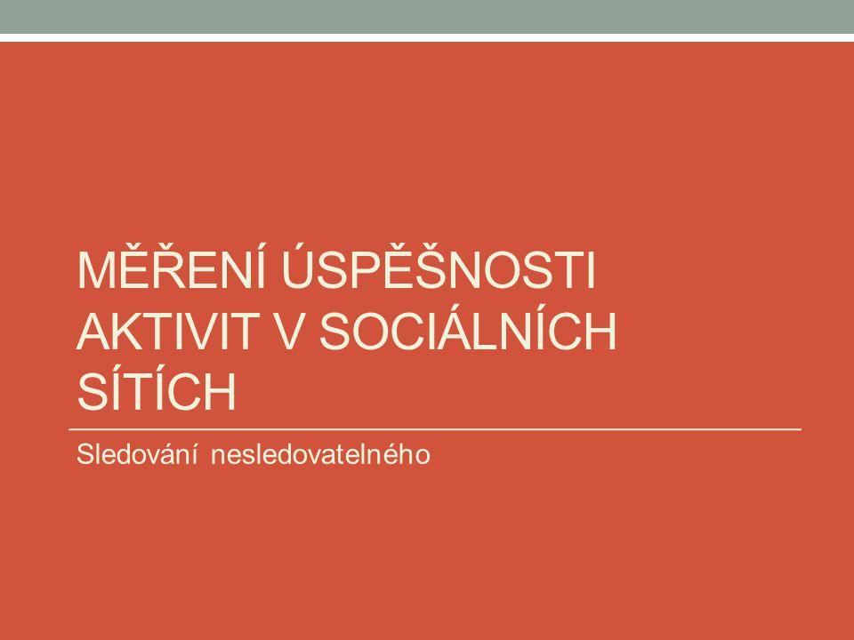 Měření úspěšnosti aktivit v sociálních sítích