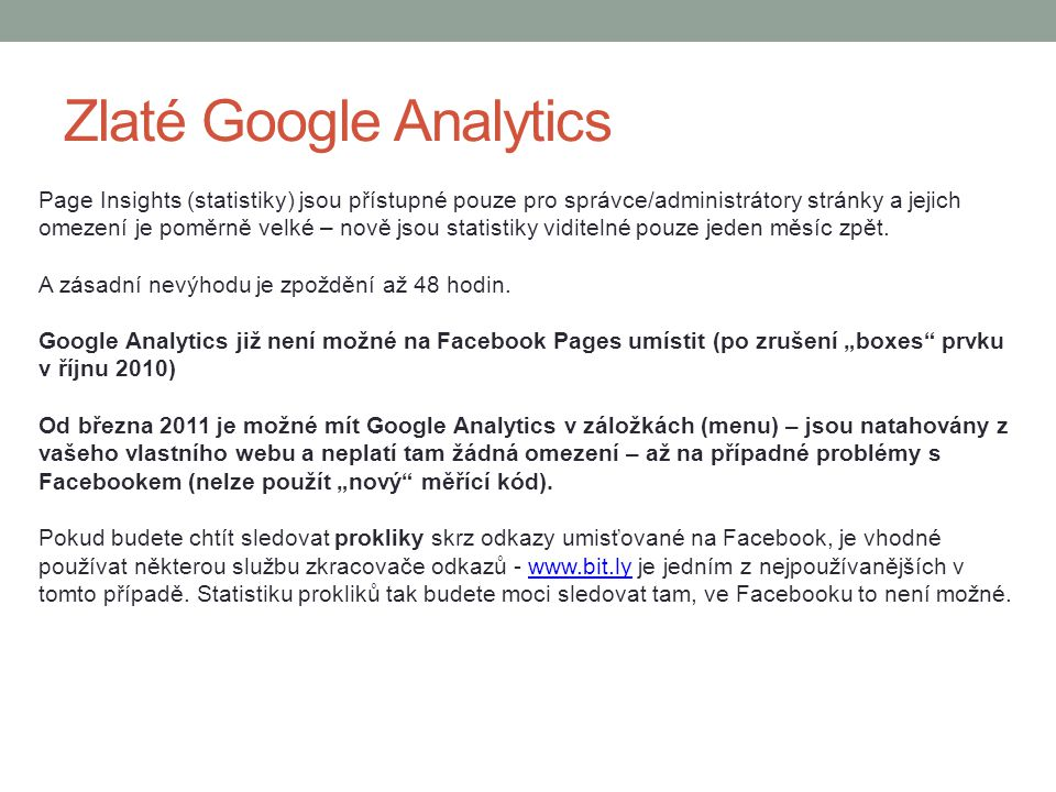 Zlaté Google Analytics