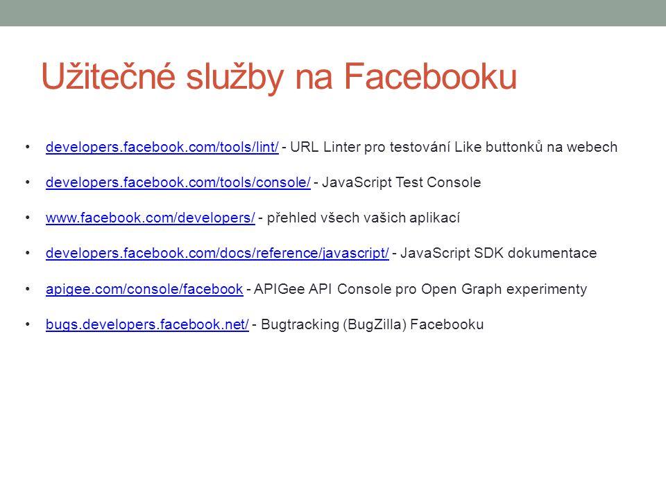 Užitečné služby na Facebooku