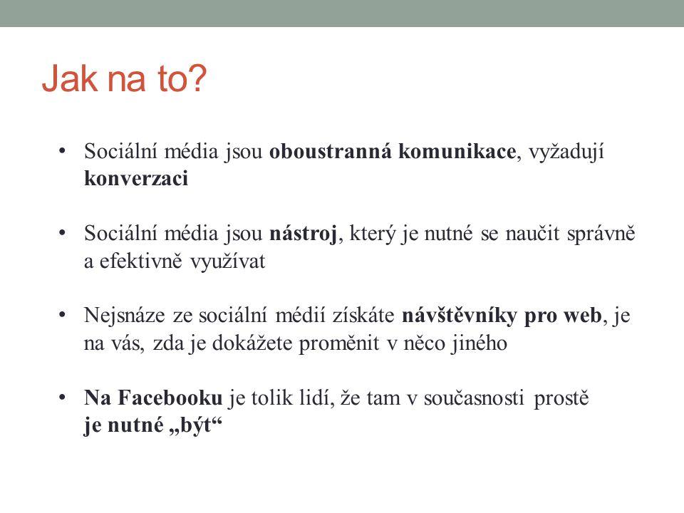 Jak na to Sociální média jsou oboustranná komunikace, vyžadují konverzaci.