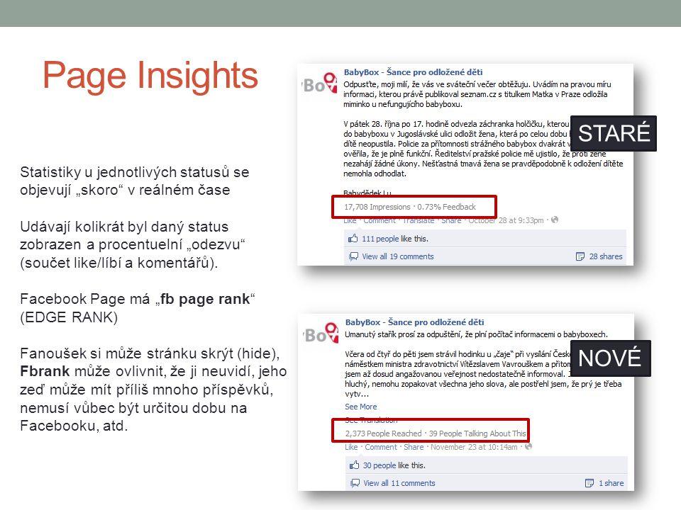 Page Insights STARÉ NOVÉ