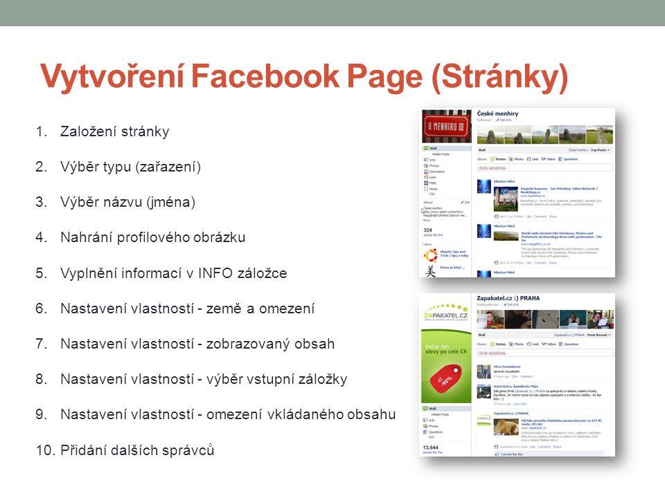 Vytvoření Facebook Page (Stránky)