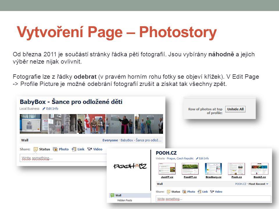 Vytvoření Page – Photostory