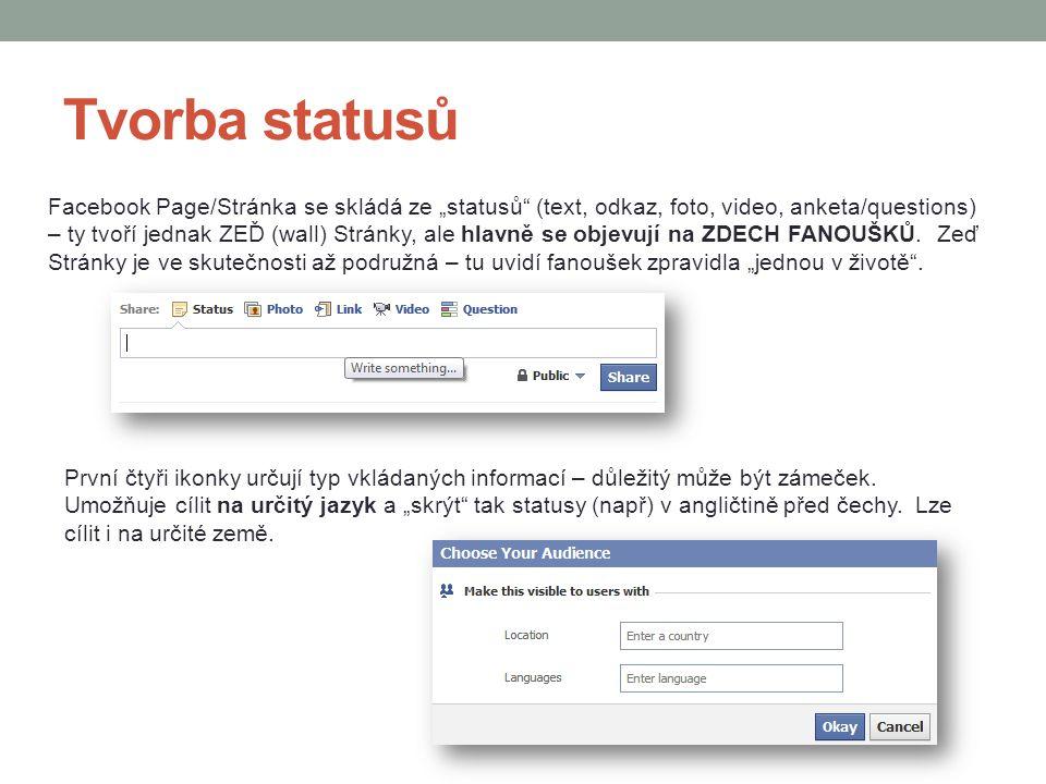 Tvorba statusů