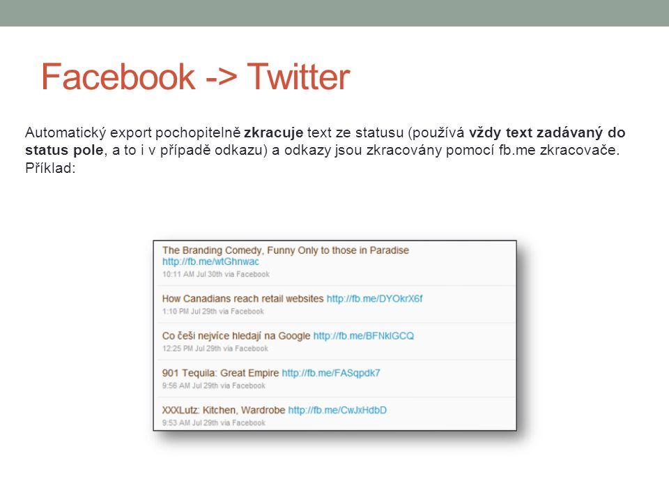 Facebook -> Twitter