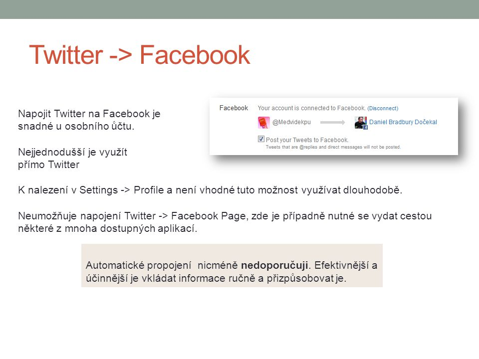 Twitter -> Facebook