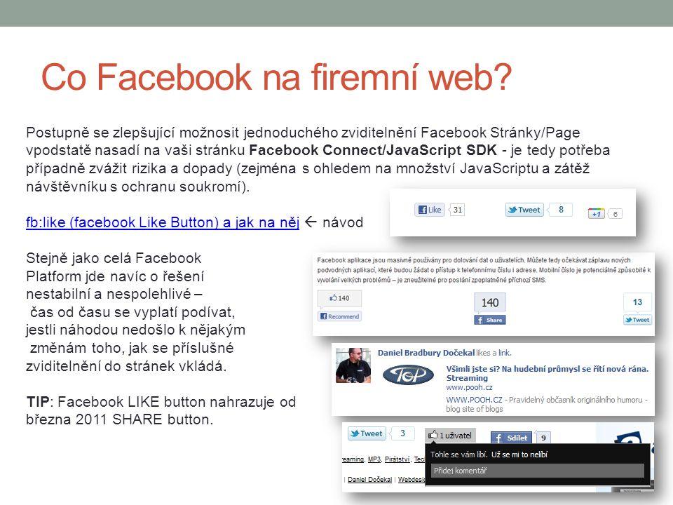 Co Facebook na firemní web