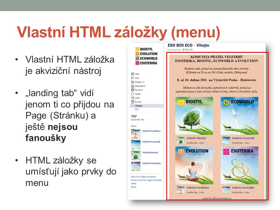 Vlastní HTML záložky (menu)