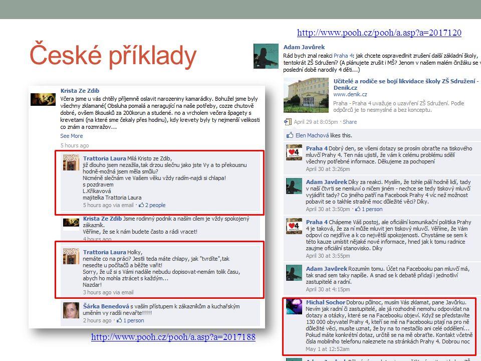 České příklady http://www.pooh.cz/pooh/a.asp a=2017120