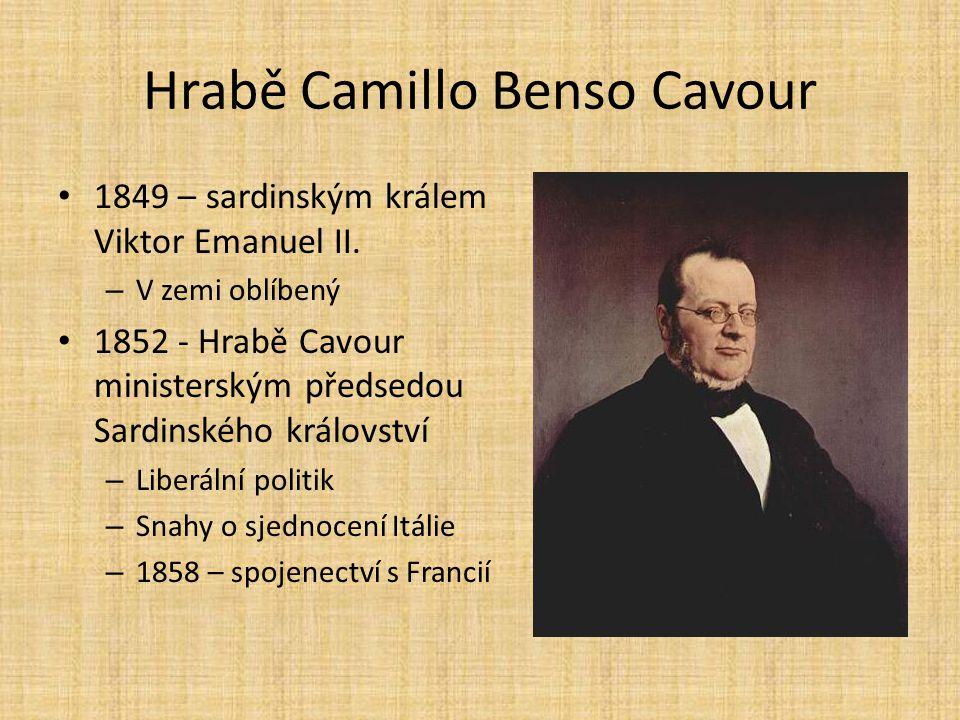 Hrabě Camillo Benso Cavour