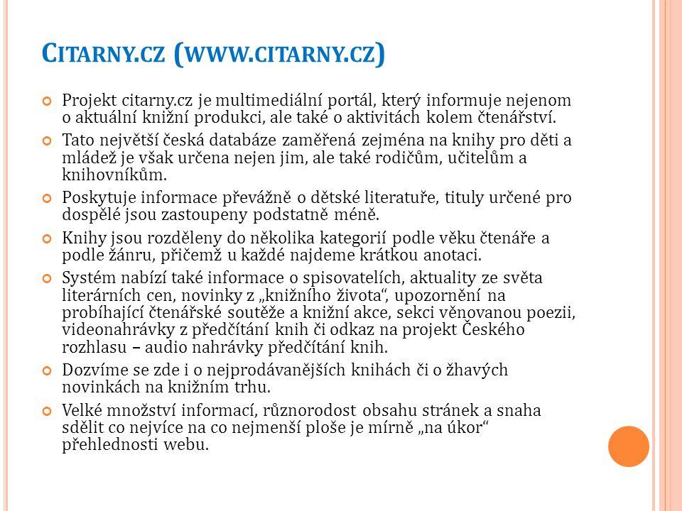 Citarny.cz (www.citarny.cz)