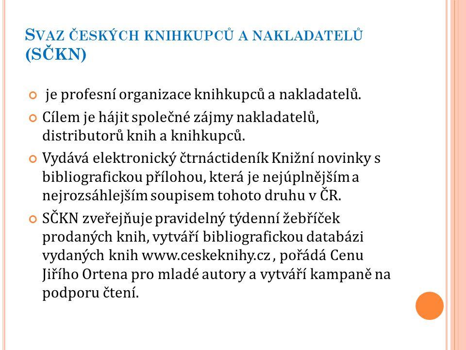 Svaz českých knihkupců a nakladatelů (SČKN)