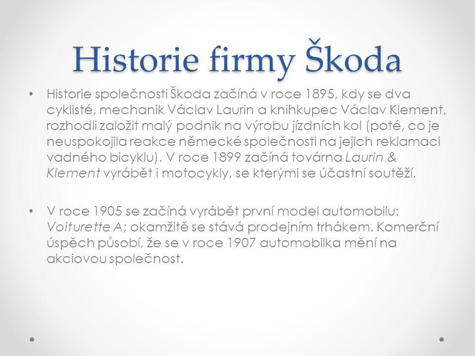 Historie firmy Škoda