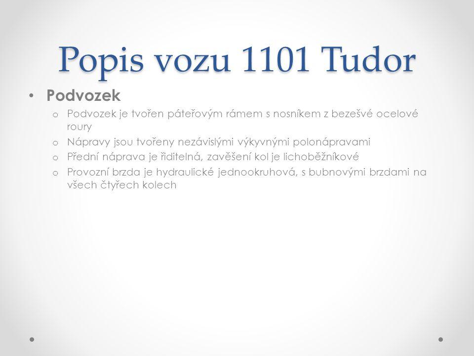 Popis vozu 1101 Tudor Podvozek