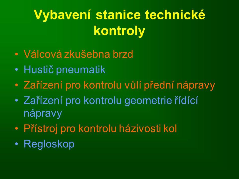 Vybavení stanice technické kontroly