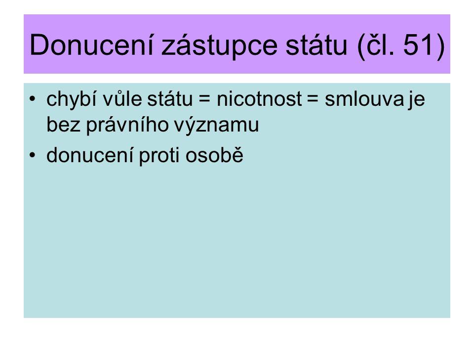 Donucení zástupce státu (čl. 51)
