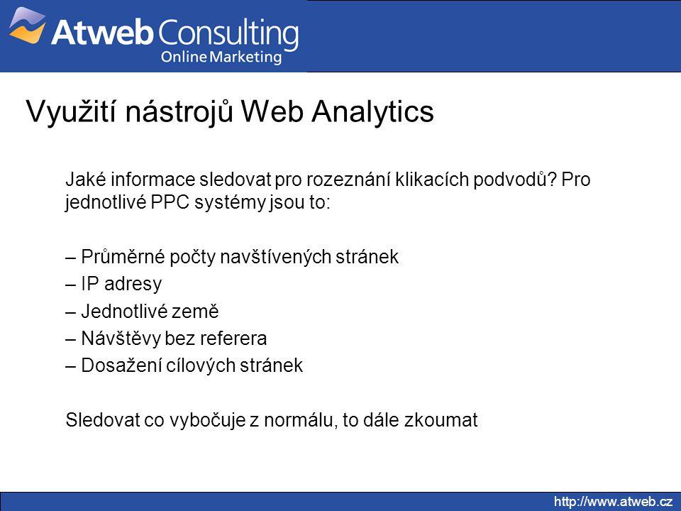 Využití nástrojů Web Analytics