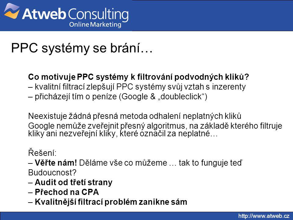 PPC systémy se brání… Co motivuje PPC systémy k filtrování podvodných kliků kvalitní filtrací zlepšují PPC systémy svůj vztah s inzerenty.