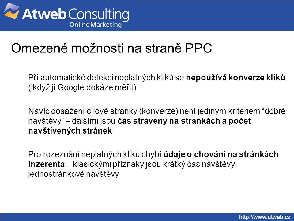 Omezené možnosti na straně PPC