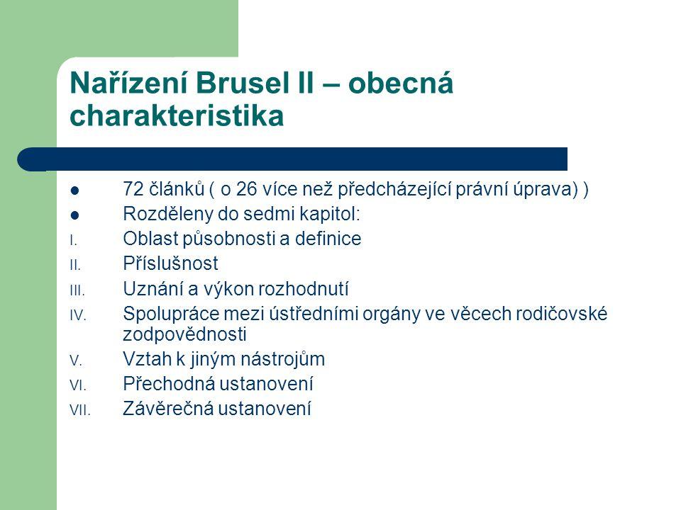 Nařízení Brusel II – obecná charakteristika