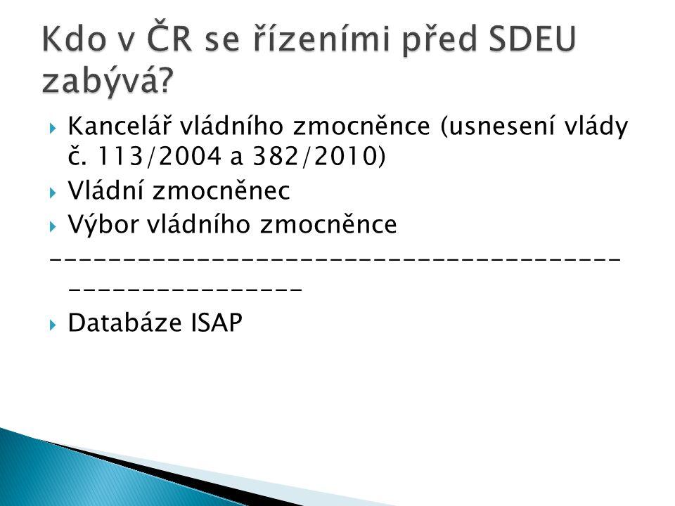 Kdo v ČR se řízeními před SDEU zabývá