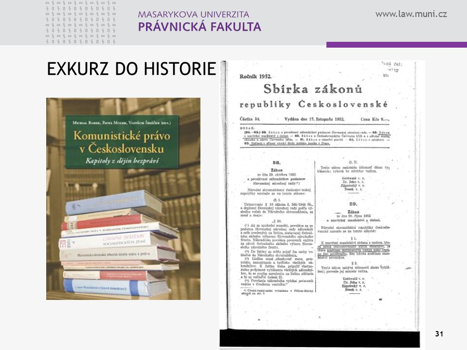 EXKURZ DO HISTORIE