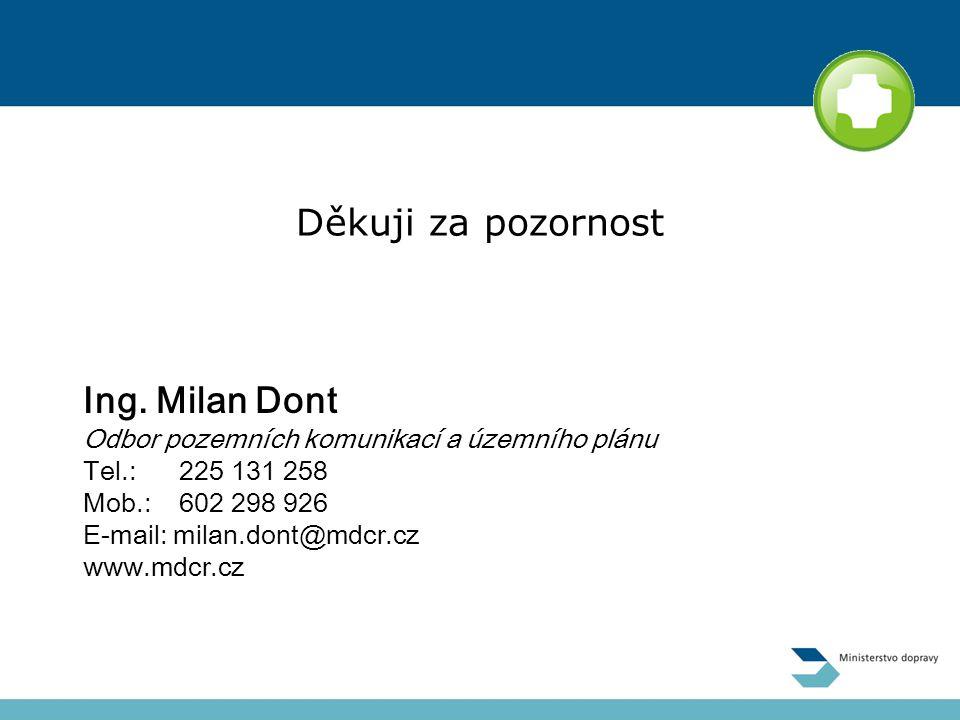 Děkuji za pozornost Ing. Milan Dont
