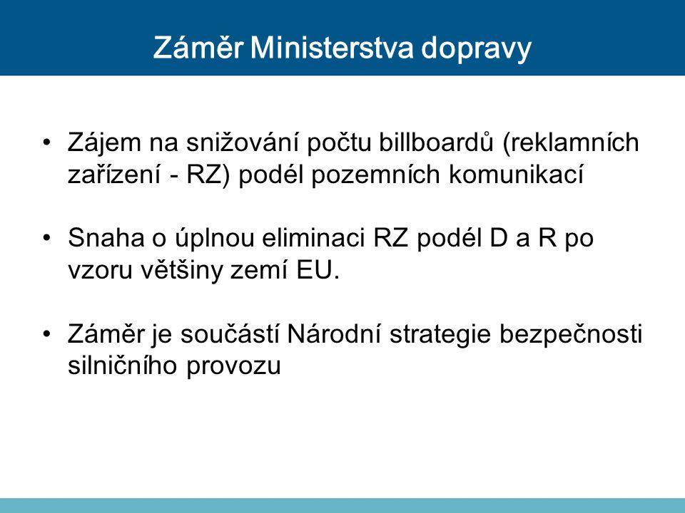 Záměr Ministerstva dopravy