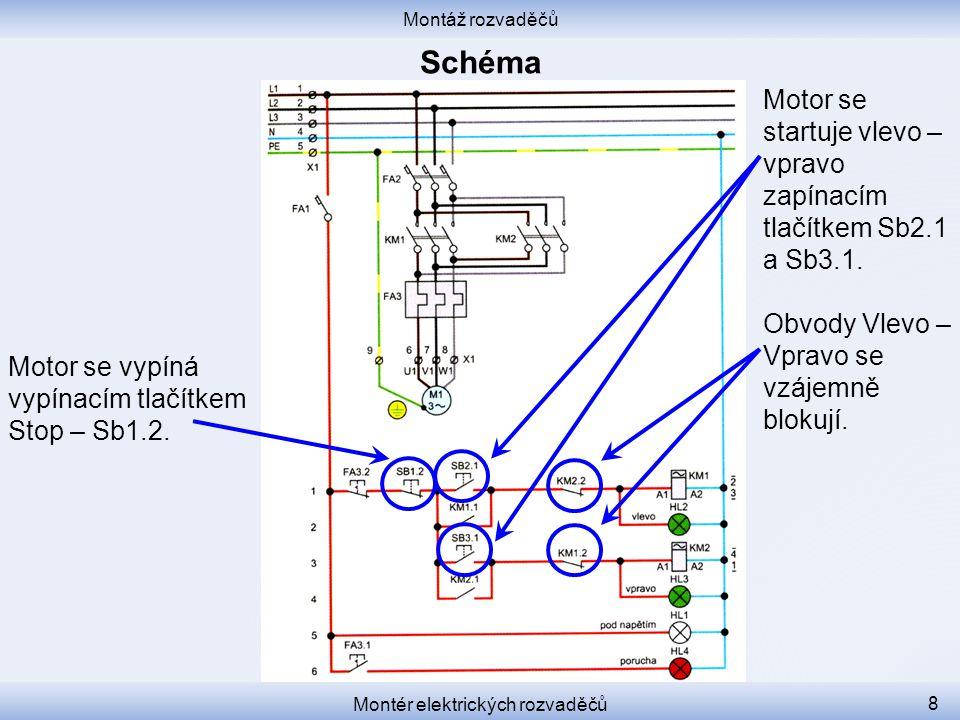 Montér elektrických rozvaděčů