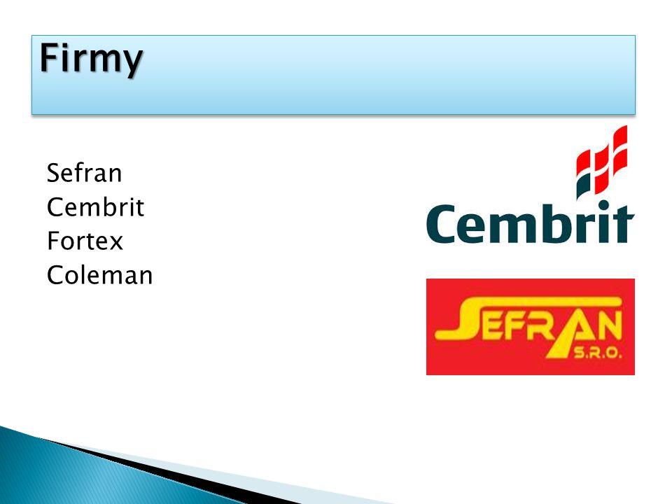 Firmy Sefran Cembrit Fortex Coleman
