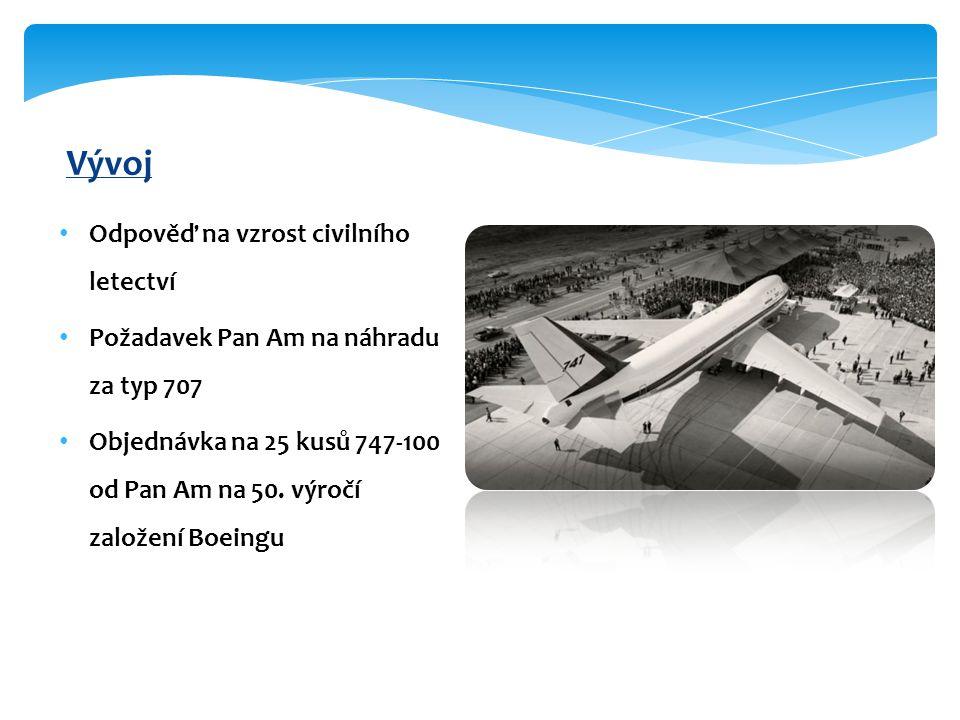 Vývoj Odpověď na vzrost civilního letectví