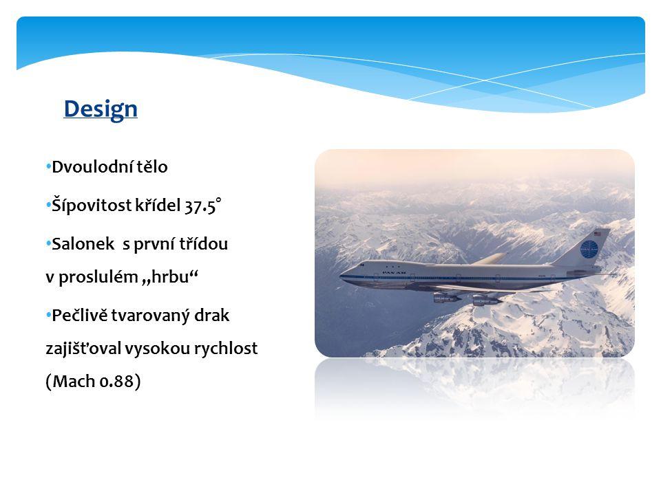 Design Dvoulodní tělo Šípovitost křídel 37.5°