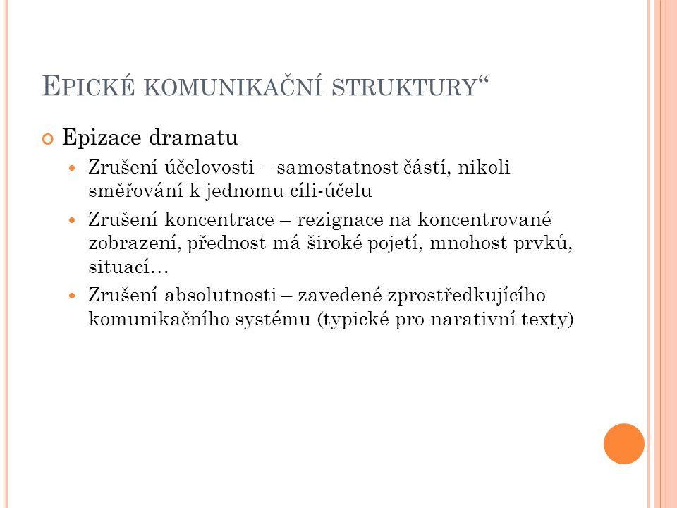 Epické komunikační struktury
