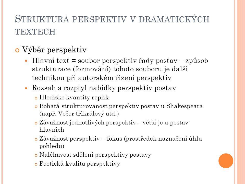 Struktura perspektiv v dramatických textech