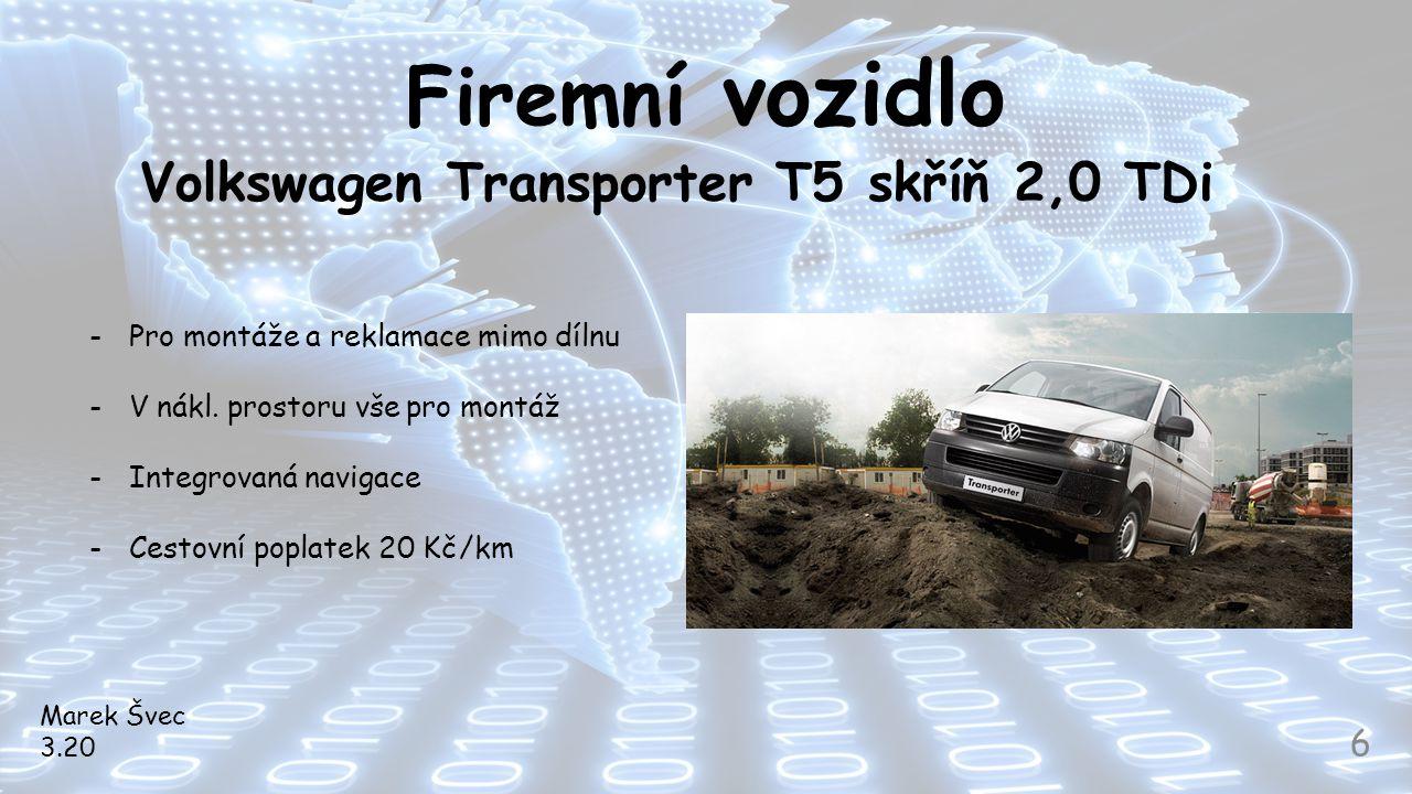 Volkswagen Transporter T5 skříň 2,0 TDi