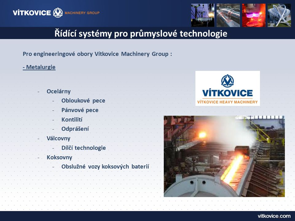 Řídící systémy pro průmyslové technologie