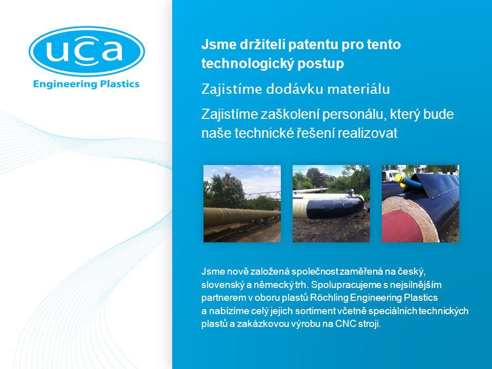Jsme držiteli patentu pro tento technologický postup