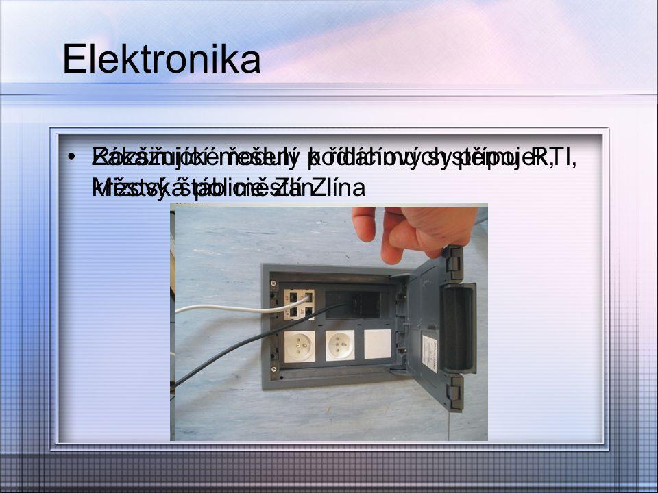 Elektronika Zákaznické řešení podlahových přípojek, krizový štáb města Zlína.