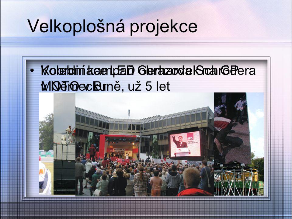 Velkoplošná projekce Volební kampaň Gerharda Schrödera v Německu