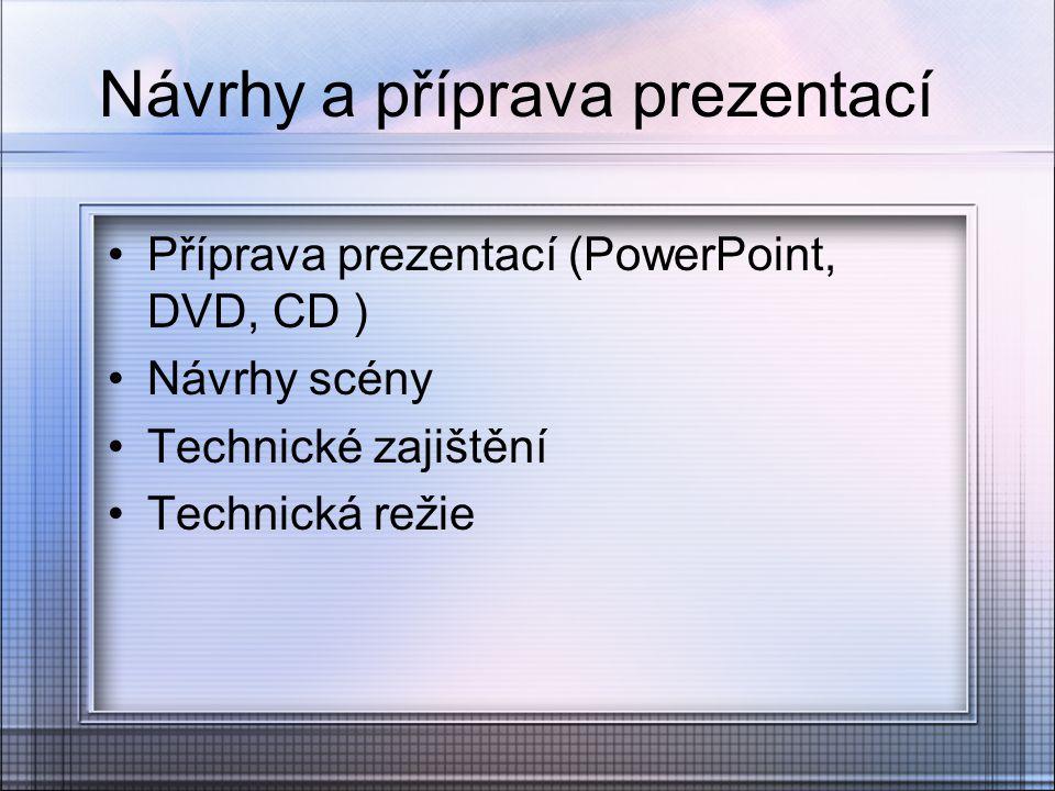 Návrhy a příprava prezentací