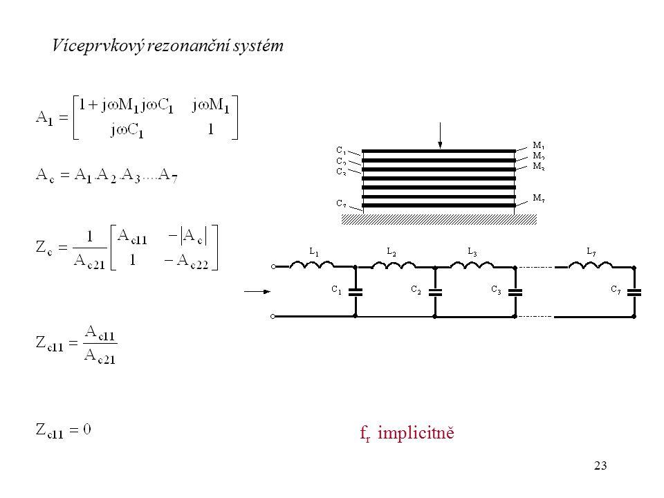 Víceprvkový rezonanční systém
