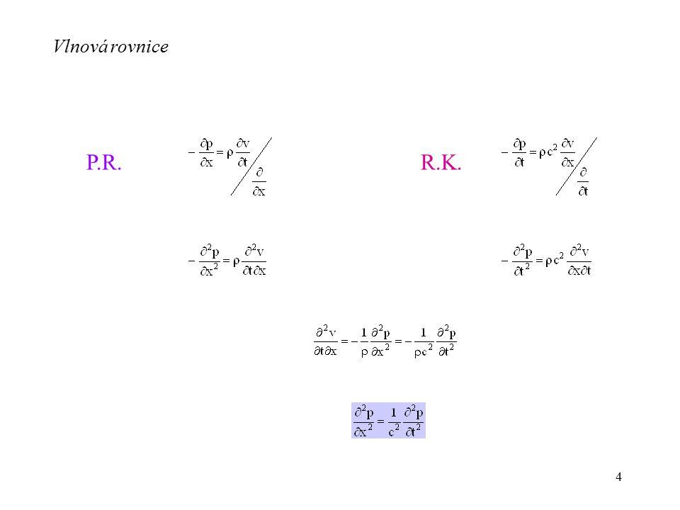 Vlnová rovnice P.R. R.K.