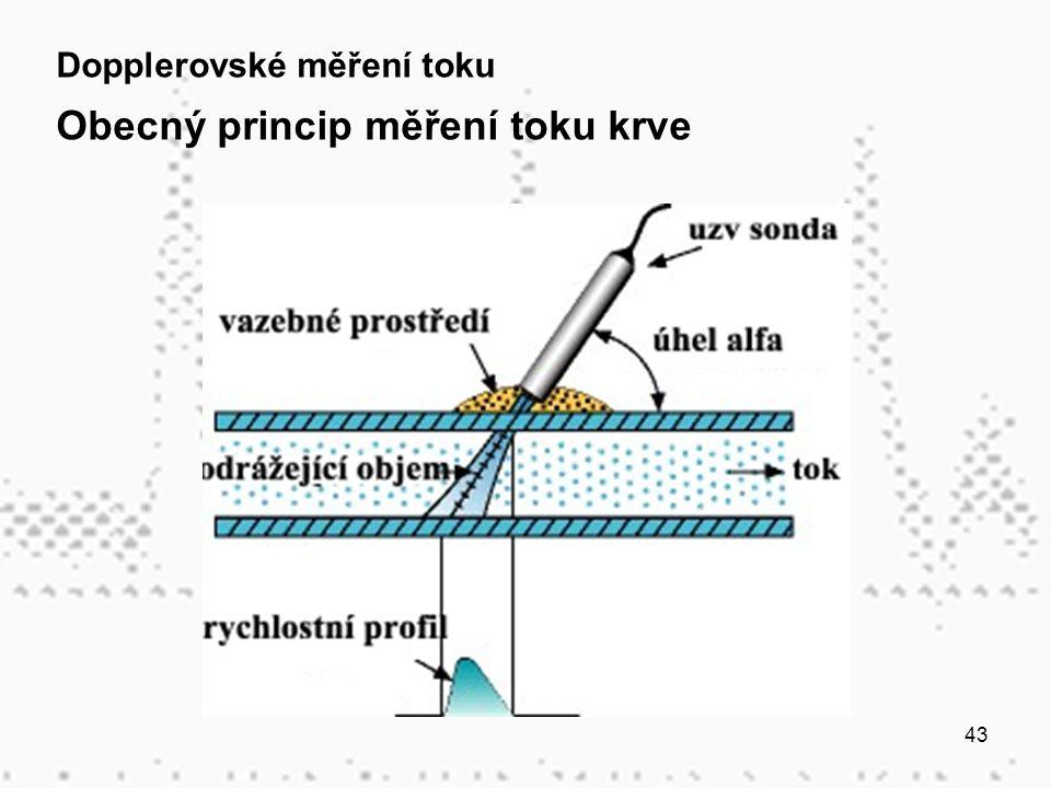 Obecný princip měření toku krve