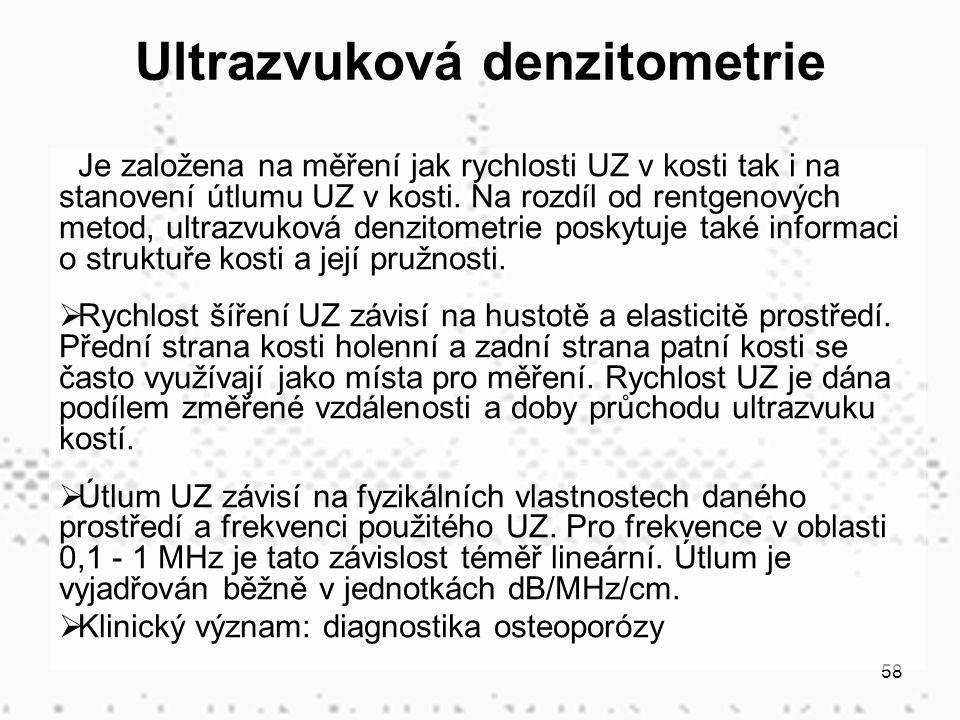 Ultrazvuková denzitometrie