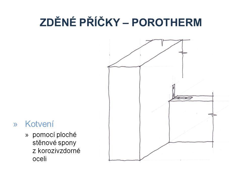 zděné příčky – porotherm